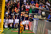 September 9, 2017 - Foxborough, Mass: New England Revolution midfielder Lee Nguyen (24) celebrates a goal  during the MLS game between the Montreal Impact and the New England Revolution held at Gillette Stadium in Foxborough Massachusetts. Revolution defeat Impact 1-0. Eric Canha/CSM