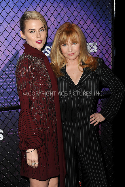 www.acepixs.com<br /> March 7, 2018  New York City<br /> <br /> Rachael Taylor and Rebecca De Mornay attending attending Marvel's 'Jessica Jones' season 2 TV show premiere on March 7, 2018 in New York City.<br /> <br /> Credit: Kristin Callahan/ACE Pictures<br /> <br /> <br /> Tel: 646 769 0430<br /> Email: info@acepixs.com