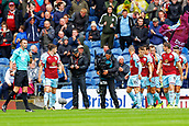 10th September 2017, Turf Moor, Burnley, England; EPL Premier League football, Burnley versus Crystal Palace; Chris Wood of Burnley celebrates scoring his teams first goal after 3 minutes