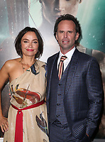HOLLYWOOD, CA - MARCH 12: Nadia Conners, Walton Goggins, at The US premiere of Tomb Raider at the TCL Chinese Theatre in Hollywood, California on March 12, 2018. Credit: Faye Sadou/MediaPunch<br /> CAP/MPIFS<br /> &copy;MPIFS/Capital Pictures