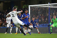 Jason Naismith of Peterborough takes a shot at the Chelsea goal during Chelsea Under-21 vs Peterborough United, Checkatrade Trophy Football at Stamford Bridge on 9th January 2019