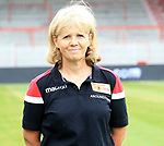 06.07.2019, Stadion an der Wuhlheide, Berlin, GER, 2.FBL, 1.FC UNION BERLIN , Mannschaftsfoto, Portraits, <br /> DFL  regulations prohibit any use of photographs as image sequences and/or quasi-video<br /> im Bild Susi Kopplin (Mannschaftsleiterin)<br /> <br /> <br />      <br /> Foto © nordphoto / Engler