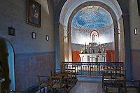 Chateau St Martin de la Garrigue. Languedoc. The private chapel. France. Europe.