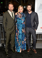 Abbie Cornish &amp; Gerard Butler &amp; Jim Sturgess at the premiere for &quot;Geostorm&quot; at TCL Chinese Theatre, Hollywood. Los Angeles, USA 16 October  2017<br /> Picture: Paul Smith/Featureflash/SilverHub 0208 004 5359 sales@silverhubmedia.com