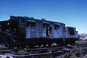 3/4 left-side view of D&amp;RGW rotary snowplow #OO, probably at Gunnison.  This plow was purchased in 1920 from Colorado Fuel &amp; Iron Co. who used it on both the narrow gauge Crystal River RR and the standard gauge Crystal River and San Juan RR.  It was retired and  scrapped in 1955.<br /> D&amp;RGW  Gunnison ?, CO