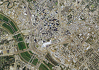 aerial photo map of Dallas, Texas, 2014