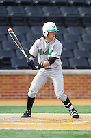 Chase Vogelbach (7) of the Marshall Thundering Herd at bat against the Wake Forest Demon Deacons at Wake Forest Baseball Park on February 17, 2014 in Winston-Salem, North Carolina.  The Demon Deacons defeated the Thundering Herd 4-3.  (Brian Westerholt/Four Seam Images)
