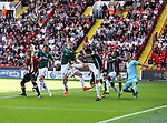 during the English championship league match at Bramall Lane Stadium, Sheffield. Picture date 5th August 2017. Picture credit should read: Jamie Tyerman/Sportimage