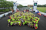 Michael Hu Association runners pose for a photograph during the Wings for Life World Run on 08 May, 2016 in Yilan, Taiwan. Photo by Victor Fraile / Power Sport Images