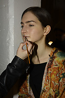 Lujin Zhang 11/02/2018<br /> Backstage, New York Fashion Week FW18 <br /> <br /> New York Fashion Week,  New York, USA in February 2018.<br /> CAP/GOL<br /> &copy;GOL/Capital Pictures