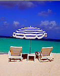Chair Umbrella Beach of Anguilla, British West Indies