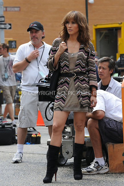"""WWW.ACEPIXS.COM . . . . . ....July 16 2009, New York City....Actress Jennifer Lopez on the set of the new movie """"The Back-Up Plan"""" in Downtown Manhattan on July 16, 2009 in New York City.....Please byline: KRISTIN CALLAHAN - ACEPIXS.COM.. . . . . . ..Ace Pictures, Inc:  ..tel: (212) 243 8787 or (646) 769 0430..e-mail: info@acepixs.com..web: http://www.acepixs.com"""
