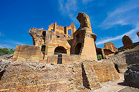 Hadrian's Villa ( Villa Adriana ) built during the second and third decades of the 2nd century AD, Tivoli, Italy. A UNESCO World Heritage Site.
