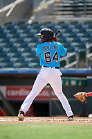 Miami Marlins Jandel Paulino (64) at bat during an Instructional League game against the Washington Nationals on September 25, 2019 at Roger Dean Chevrolet Stadium in Jupiter, Florida.  (Mike Janes/Four Seam Images)