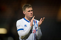 4th January 2020; Dens Park, Dundee, Scotland; Scottish Championship Football, Dundee FC versus Inverness Caledonian Thistle; Kevin McHattie of Inverness Caledonian Thistle applauds the fans at the end of the match - Editorial Use