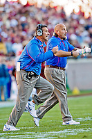 November 27, 2010:   Florida Gators head coach Urban Meyer runs out on the field during  first half game action between the ACC Conference Florida State Seminoles and the SEC Conference University of Florida Gators at Doak Campbell Stadium in Tallahassee, Florida.