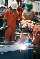 Shipyard Workers in Abu Dhabi