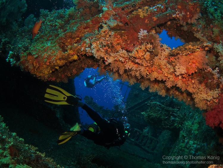 Orchid Island, Taiwan -- Inside the Ba Dai ship wreck.