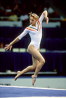 July 19, 1998; New York, NY, USA;  Artistic gymnasts Maria Olaru of Romania performs on floor exercise at 1998 Goodwill Games New York. Copyright 1998 Tom Theobald