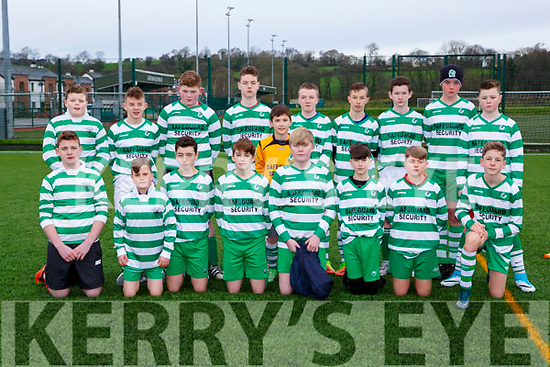 The Killarney Celtic team that played Mastergeeha in Killarney on Saturday
