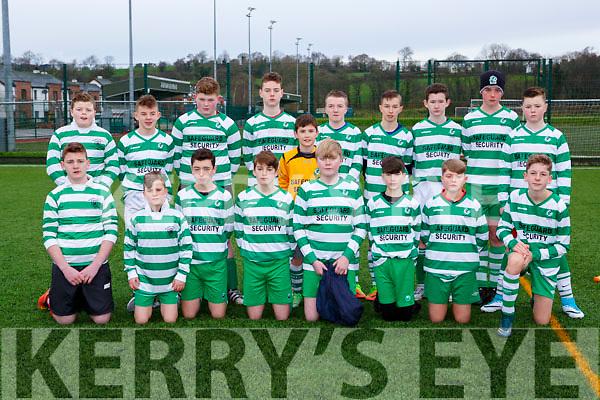 The Killarney Celtic team that played Mastergeeha in Killarney on Saturday