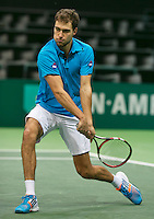 11-02-14, Netherlands,Rotterdam,Ahoy, ABNAMROWTT, Jerzy Janowicz (POL)<br /> Photo:Tennisimages/Henk Koster