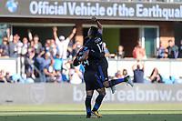 San Jose, CA - Saturday July 29, 2017: Nick Lima, Darwin Ceren during a Major League Soccer (MLS) match between the San Jose Earthquakes and Colorado Rapids at Avaya Stadium.