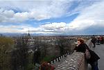 Panorama della Città di Torino, vista dal piazzale del Monte dei Cappuccini.