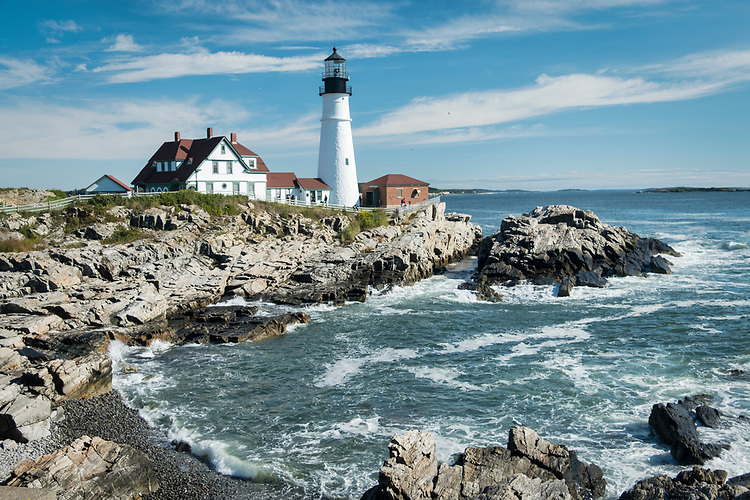 The Portland Head Light is the most photographed lighthouse in America, and also the oldest in Maine.