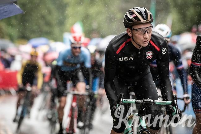 Neilson Powless (USA/Jumbo-Visma)<br /> <br /> Elite Men Road Race from Leeds to Harrogate (shortened to 262km)<br /> 2019 UCI Road World Championships Yorkshire (GBR)<br /> <br /> ©kramon