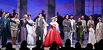 John Bolton, Mary Beth Peil, Derek Klena, Christy Altomare, Ramin Karimloo, Caroline O'Connor and Nicole Scimeca during Broadway Opening Night Performance Curtain Call bows for 'Anastasia' at the Broadhurst Theatre on April 24, 2017 in New York City.