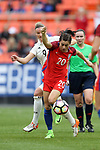 WASHINGTON, DC - MARCH 07: Karen Carney (ENG) (20) and Alexandra Popp (GER) (9). The England Women's National Team played the Germany Women's National Team as part of the SheBelieves Cup on March 7, 2017, at RFK Stadium in Washington, DC. Germany won the game 1-0.
