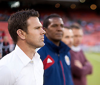 Chivas USA head coach Robin Fraser watches his team before the game at RFK Stadium in Washington, DC.  D.C. United defeated Chivas USA, 1-0.