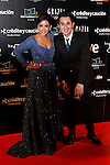 Actress Inma Cuesta and actor Berto Romero attend Goya Cinema Awards 2014 red carpet at Centro de Congresos Principe Felipe on February 9, 2014 in Madrid, Spain. (ALTERPHOTOS/Victor Blanco)