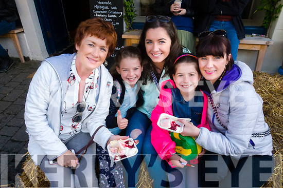 Treasa Murphy, Líle Ní Ghairbhí, Kate O'Sullivan, Roisin Ni Ghairbhí and Neasa Murphy,  pictured at the Dingle Food Festival on Saturday afternoon last.