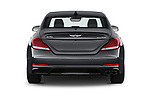 Straight rear view of a 2019 Genesis G70  Prestige 4 Door Sedan stock images
