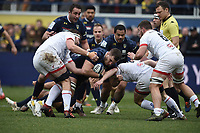 11th January 2020, Parc des Sports Marcel Michelin, Clermont-Ferrand, Auvergne-Rhône-Alpes, France; European Champions Cup Rugby Union, ASM Clermont versus Ulster;  Paul Jedrasiak (asm) tackled by John Cooney of Ulster