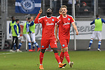 02.12.2018, Schauinsland-Reisen-Arena, Duisburg, GER, 2. FBL, MSV Duisburg vs. Holstein Kiel, DFL regulations prohibit any use of photographs as image sequences and/or quasi-video<br /> <br /> im Bild Janni-Luca Serra (#23, Holstein Kiel) jubelt nach seinem Tor zum 0:1<br /> <br /> Foto &copy; nordphoto/Mauelshagen