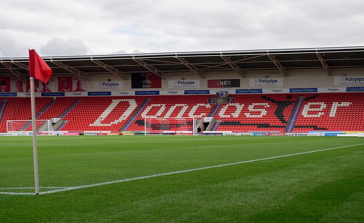 A general view of Keepmoat Stadium, home of Doncaster Rovers<br /> <br /> Photographer Chris Vaughan/CameraSport<br /> <br /> EFL Leasing.com Trophy - Northern Section - Group H - Doncaster Rovers v Lincoln City - Tuesday 3rd September 2019 - Keepmoat Stadium - Doncaster<br />  <br /> World Copyright © 2018 CameraSport. All rights reserved. 43 Linden Ave. Countesthorpe. Leicester. England. LE8 5PG - Tel: +44 (0) 116 277 4147 - admin@camerasport.com - www.camerasport.com