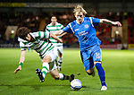 St Johnstone v Celtic..27.10.10  .Liam Craig battles with Sung Yeung Ki.Picture by Graeme Hart..Copyright Perthshire Picture Agency.Tel: 01738 623350  Mobile: 07990 594431