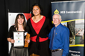 Supreme Award winner Valerie Vili with Junior Sportswoman of the Year Holly Takurua & Bruce Pulman. Counties Manukau Sport 17th annual Sporting Excellence Awards held at the Telstra Clear Pacific Events Centre, Manukau City, on November 27th 2008.