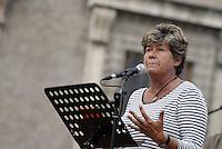 Roma, 13 Settembre 2014<br /> Piazza Farnese<br /> &quot;Piazza bella piazza&quot; festa regionale della CGIL.<br /> Susanna Camusso segretario generale naazionale Cgil <br /> Rome, 13 September 2014 <br /> Piazza Farnese <br /> Regional festival of the CGIL union