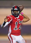 Inglewood, CA 10/09/14 - Travian Mcgee (Morningside #17) in action during the Palos Verdes Peninsula vs Morningside CIF Varsity football game at Coleman Field in Inglewood.  Peninsula defeated Morningside 24-13.