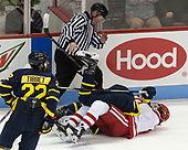 Mathieu Tibbet (Merrimack - 22), Joe Ross, Ryan Cook (Merrimack - 2), Patrick Curry (BU - 11) - The visiting Merrimack College Warriors defeated the Boston University Terriers 4-1 to complete a regular season sweep on Friday, January 27, 2017, at Agganis Arena in Boston, Massachusetts.The visiting Merrimack College Warriors defeated the Boston University Terriers 4-1 to complete a regular season sweep on Friday, January 27, 2017, at Agganis Arena in Boston, Massachusetts.