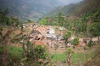 A destroyed village, outskirt of Kathmandu, Nepal. May 1, 2015