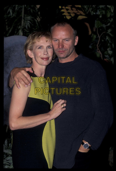 TRUDI STYLER & STING.18 September 1997.Ref: 6391.married, half length, half-length.*RAW SCAN- photo will be adjusted for publication*.www.capitalpictures.com.sales@capitalpictures.com.©Capital Pictures
