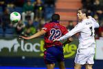 MADRID. ESPAÑA. FÚTBOL.<br /> Football match during La Copa del Rey (Spain);  04/01/2014.<br /> En la imagen :<br /> 7Cristiano Ronaldo (Real Madrid)<br /> 22     Jordan Loties (CA Osasuna)
