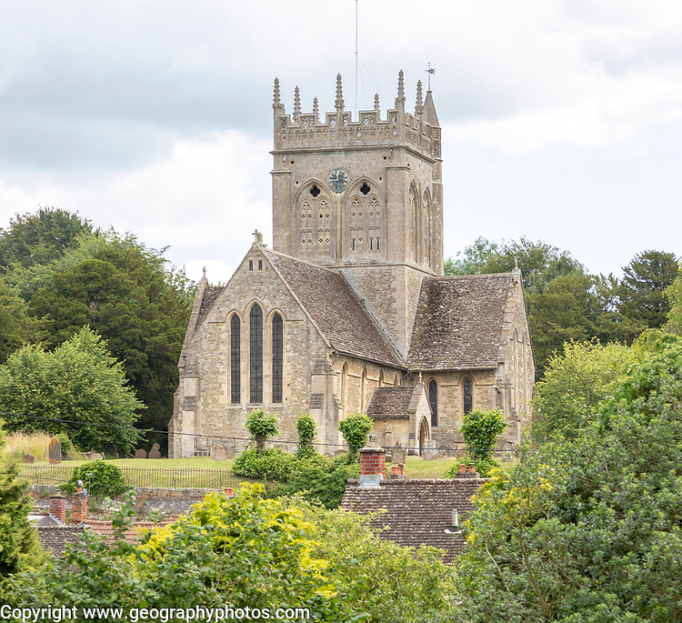 Church of Saint Mary, Potterne, Wiltshire, England, UK a building completely in Early English architectural style