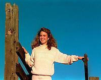 Disa Rifkin on Dougherty Road, 1987.  &amp;#xA;<br />