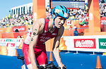 Wales Christopher Silver during the Triathlon Mixed Team relay<br /> <br /> *This image must be credited to Ian Cook Sportingwales and can only be used in conjunction with this event only*<br /> <br /> 21st Commonwealth Games - Triathlon Mixed Relay  -  Day 3 - 07/04/2018 - Southport Boardwater Parklands - Gold Coast City - Australia